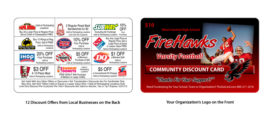Cincinnati fundraising discount cards